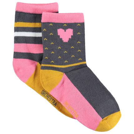 Juego de 2 pares de calcetines de jacquard