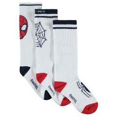 Juego de 3 pares de calcetines con Spiderman de jácquard Marvel
