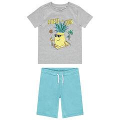 Pyjama court en jersey print ananas  , Orchestra