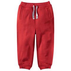 Pantalón de chándal de felpa con cordones estampados