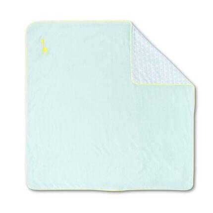 Manta de terciopelo y popelina de algodón con estampado de color liso