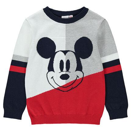 Jersey de punto con Mickey ©Disney de jacquard