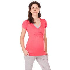 Camiseta de manga corta homewear de embarazo y lactancia
