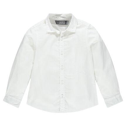 Camisa manga larga de algodón liso