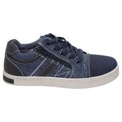 Zapatillas bajas de tela con cordones y cremallera lateral , SAXO BLUES