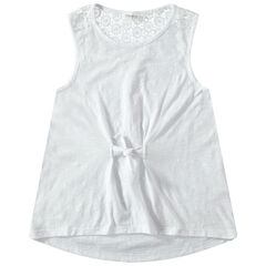 Júnior - Camiseta sin mangas de punto slub con encaje en la espalda