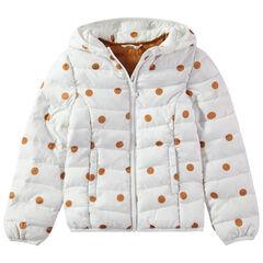 Anorak light*, impermeable con capucha y bolsa de almacenamiento estampada