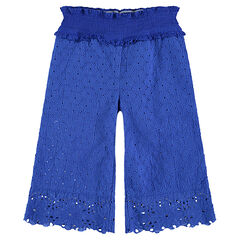 Pantalón amplio con bordados ingleses