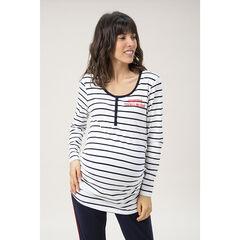 Camiseta de manga larga homewear , Prémaman