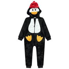Pijama de pingüino de borreguillo