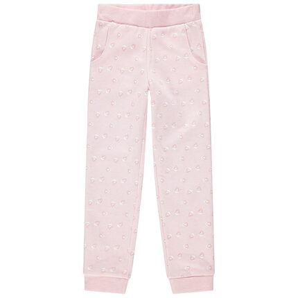 Pantalón de chándal de felpa con estampado