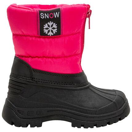 Botas de nieve con cuello acolchado con cremallera y protector de goma del 20 al 23
