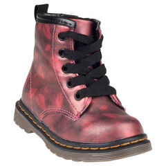 Botas bajas de color rojo