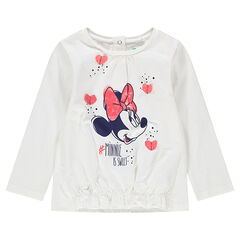 Camiseta de manga larga de punto con Minnie ©Disney estampada y corazones de relieve