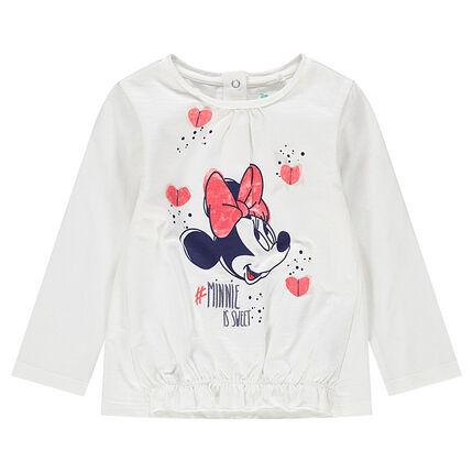Camiseta de manga larga de punto con Minnie ©Disney estampada y corazones de relieve