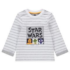 Camiseta de punto de manga larga con personajes de Star Wars™ estampados