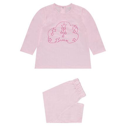 Pijama de punto con nube estampada