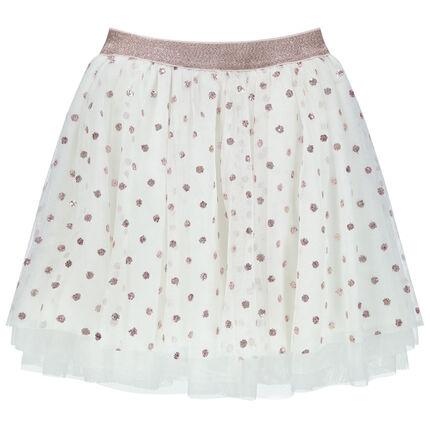 Falda de gala de tul con cintura brillante