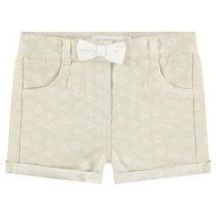 """Shorts de algodón de fantasía irisados con corazones """"all-over""""."""