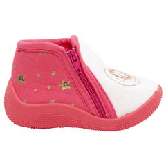 Zapatillas con forma de botines con estrellas y ©Smiley estampados