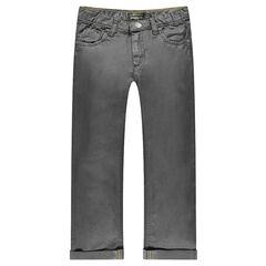 Jeans de corte recto efecto encerado