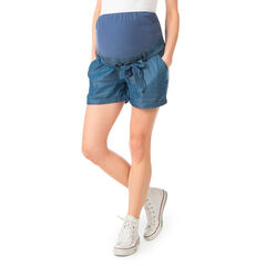 Shorts de Tencel con banda alta