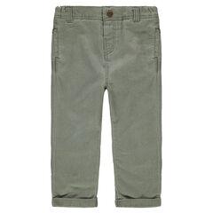 Pantalón de algodón de fantasía´caqui
