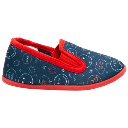 Zapatillas planas con estampado de Smiley all-over