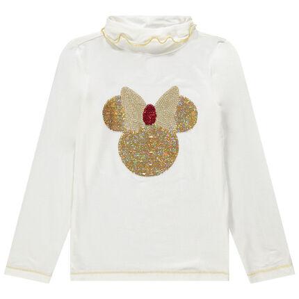 Camiseta interior con cuello vuelto y dibujo de Minnie de lentejuelas mágicas Disney
