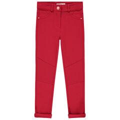 Pantalón liso de punto milano