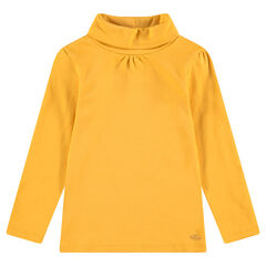 Camiseta interior lisa con de cuello vuelto con logo estampado