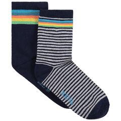 Juego de 2 pares de calcetines variados de rayas de colores