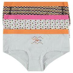 Júnior - Pack de 3 culottes cortos con estampado de fantasía
