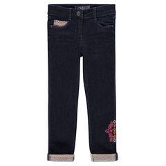 Jeans de felpa con bordados
