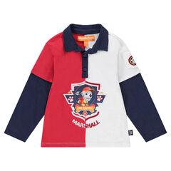 Camiseta de manga larga con efecto 2 en 1 y estampado de Marshall de Patrulla Canina Nickelodeon™