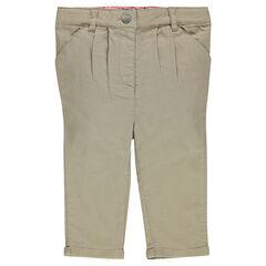 Pantalón corto de tela estilo chinos