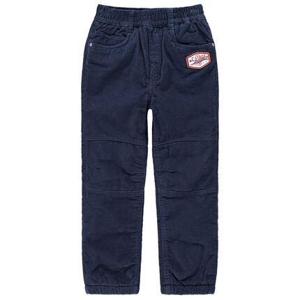 Pantalón con forro de polar con parche