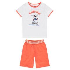 Pijama corto de punto bicolor con estampado de Mickey vintage ©Disney