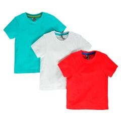 Lote de 3 camisetas manga corta