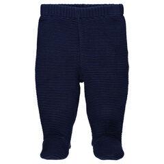 Pantalón de punto elástico pie cerrado