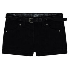 Júnior - Pantalón corto de terciopelo con cinturón extraíble