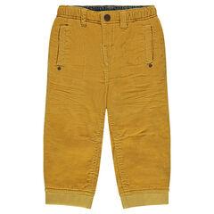 Pantalón de pana fina liso