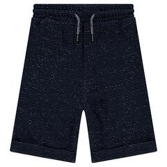 """Júnior - Bermudas """"loose"""" de felpa trenzada con bolsillos"""