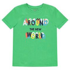 Júnior - Camiseta de manga corta de punto con dibujo estampado