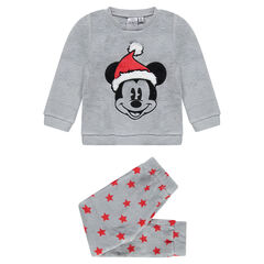 Pijama de borreguillo Disney con Mickey bordado