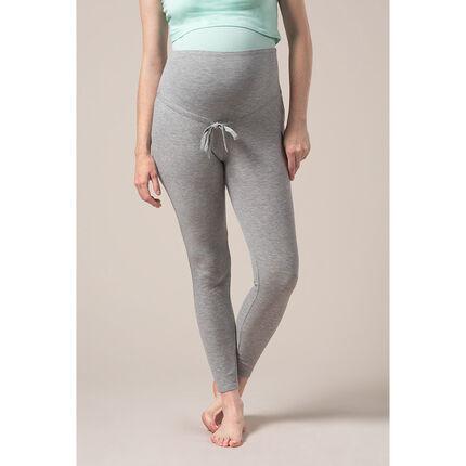 bajo precio 1ebca 4c198 Pantalón de pijama de premamá de punto jaspeado acanalado ...