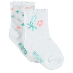 Pack de 2 pares de calcetines flores/ flechas de colores , Orchestra