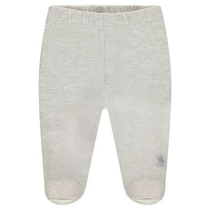Pantalón de tejido de punto pie cerrado con estampado