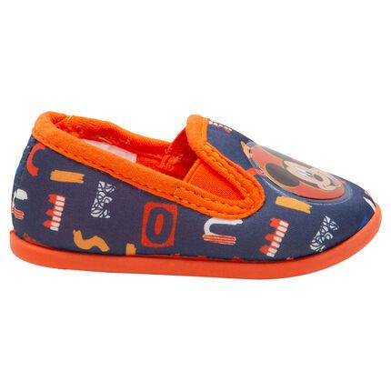 Zapatillas bajas elásticas con parche plastificado Mickey ©Disney