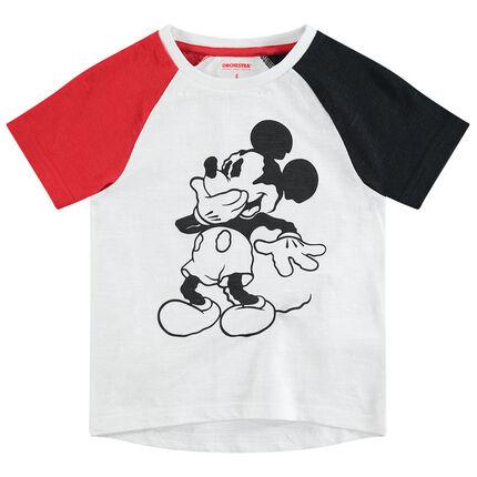 Camiseta tricolor de manga corta ©Disney con estampado de Mickey